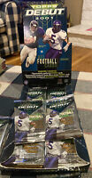 2001 Topps Debut NFL Football Cards Hobby Two (2) Packs - Unopened