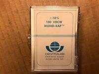 18 NOS NIB Vintage Centralab .0039 uf 100v Mono-Kap Capacitors CRL 3900 pf