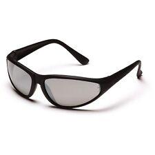 Pyramex Zone Safety Glasses - Black Frame - Silver Mirror Lens Sb97Oe New