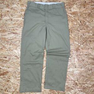 BEIGE W32 L29 DICKIES 874 STRAIGHT LEG ORIGINAL FIT SKATE PANT CHINO TROUSERS