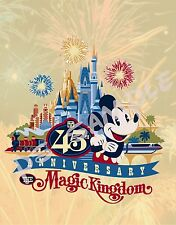 Florida - Disney World MAGIC KINGDOM 45th ANNIVERSARY - Flexible Fridge MAGNET