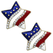 4th of July Usa Us American Flag Star Stud Earrings Independence Day Jewelry