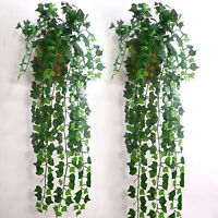 Artificial Wall Hanging Ivy Leaf Leave.Vine 8.2feet Home Garden Decor Xmas ParFA