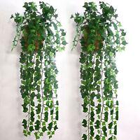 Artificial Ivy Fake Foliage Leaf Flowers Plants Garland Garden Decor NTPD