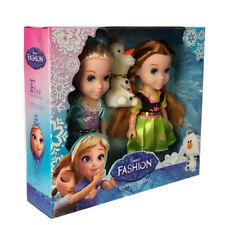 "Hot Playset Frozen Princess Elsa&Anna&Olaf 7"" Doll Figures 3PCS Birthday Gifts"