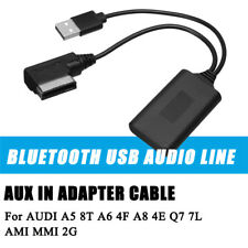 Wireless Bluetooth Module Radio Stereo AUX Cable Adapter For Audi A4 A5 A6 A8 Q7