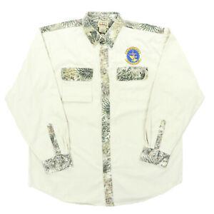 """GameGuard Men XL 56"""" Christian Outdoor Alliance L/S Button Shirt Desert Camo"""