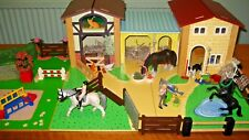 Wooden Le Toy Van Stables Schleich Horse Rider Horses Groom Show Jumps Tack Room