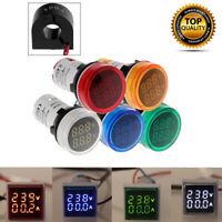 Multiple Colors Digital Dual Display Voltmeter Ammeter Voltage Gauge Meter New