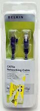 Belkin 7' ft 2.13m Cat5e Networking Ethernet Cable BLACK Router PC/Mac Computer