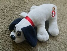 Vintage Small Pound Puppy Plush Dog Gray w/ Black Ears (Tyco, 1986)