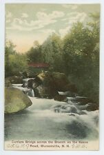 Curriers Bridge Keene Road MUNSONVILLE NH Vintage New Hampshire Postcard