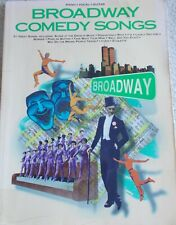 31 Broadway Comedy Songs Voice Piano Guitar Variety Unmarked