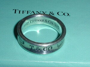 AUTHENTIC TIFFANY & CO STERLING SILVER 1837 CONCAVE BAND RING- SIZE 9 1/2!