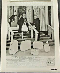 AMERICAN TOURISTER LUGGAGE promo photo ad 8 x 10 black/white SHIRLEY JONES