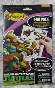 Teenage Mutant Ninja Turtles Colorforms Fun Pack NEW Sealed 18 Reusable Stickers