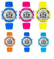 Kids digital wrist watch boys girls with Alarm Date Stopwatch timing Chrono W01