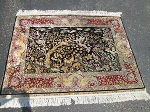 3'x4' 100% silk Turkish Hereke Silk Rug.listng oriental rugs