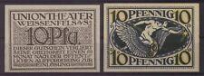 [19590] - NOTGELD WEISSENFELS, Uniontheater, 10 Pf, o. D. (1920), Tieste 7790.30