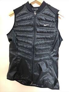 NIKE Aeroloft Insulated Running Vest Black Women's Large L
