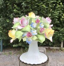 More details for royal adderley flower ornament large roses forget-me-nots porcelain bouquet