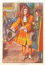 COSTUME 1694 HOMME EPOQUE LOUIS XIV FRANCE IMAGE CARD 50s