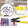 Professional Crimper Plier Wire Stripper Tool +1000 Connector Wire Terminal  ~