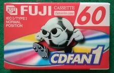 MC Musicassetta FUJI 60cdfan1 slim case vintage compact cassette tape SIGILLATA