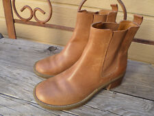 Rockport brown leather, pull on, ankle boots with 2 in. heels. Women's 5.5