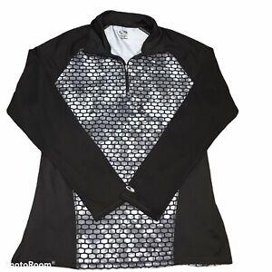 Champion Duo Dry 1/4 zip long sleeve shirt Large