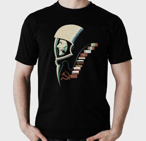 Russia Retro Space T-Shirt USSR  DDR Kosmonaut Yuri Gagarin Interkosmos