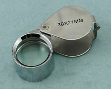 Cute 30 X 21mm Metal Magnifier For Jewelry and Fountain Pen Nib With Plastic Box