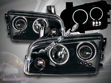 2006-2008 DODGE CHARGER DUAL HALO CCFL LED PROJECTOR HEADLIGHTS BLACK HEAD LAMPS