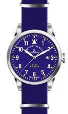 Zeno-watch Basilea swiss made piloto Navigator otan Quartz Blue nylon cristal zafiro