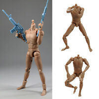 1/6 Scale Male Naked Body Narrow Shoulders with Neck