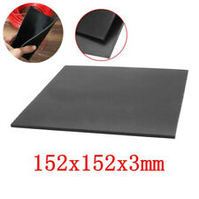 "1/9"" Thick Black Rubber Sheet Chemical Resistance High Temperature 152x152x3mm ♫"