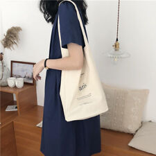 Casual heavy duty Reusable 100%Cotton Shopping Canvas Shoulder Tote Bag Hand bag