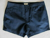 "J.Crew Searsucker Swim Trunks/Shorts-5"" Inseam-Navy & Black Striped-Size 36-NWT"