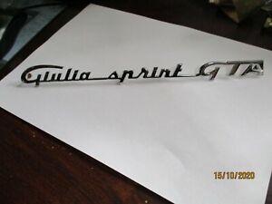 Alfa Romeo Giulia Sprint Gta Lettering Nameplate Logo