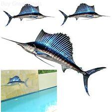 3D Wall Hanging Art Decor Metal Swordfish Fish Sailfish Home Living Room Garden