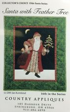 SANTA WITH FEATHER TREE-16th/Olde World Santa Series quilt pattern wall hanging