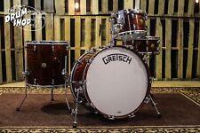 Grestch 135th Anniversary Broadkaster Drum Set, Classic Mahogany Finish