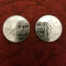 1982 1984 Canada One Dollar Confederation + Jacques Cartier 1 Dollar 2 Coin Set