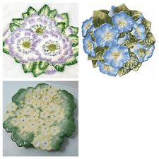 3 Fritz and Floyd Spring Fling flower plate set purple blue yellow