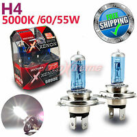 For TOYOTA MICHIBA H4 12V 60W/55W 5000K Xenon WHITE Halogen Light Bulb High Beam