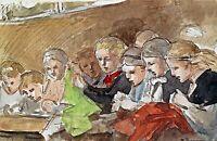 Unknown children by British  Louisa Anne Beresford. Life Art 11x17 Print