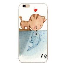 Noxcase funda protectora para iPhone 7-gato besa pescado