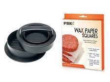 Stuffed Burger Press Hamburger Maker Non stick and 250 Wax Paper Sheets set