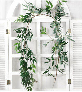 Artificial Fake Leaves Plants Willow Leaf Flowers Christmas Wreath Decor uk;
