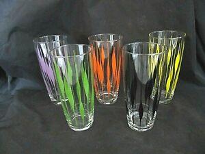 VINTAGE / RETRO / HI-BALL DRINKING GLASSES X 5